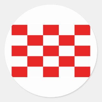 Naval Jack the Independent State Croatia, Croatia Round Stickers