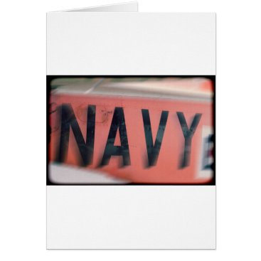 Naval Logo Navy Card