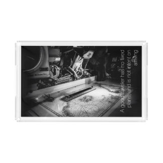 Naval map with quote by Lao Tzu Acrylic Tray