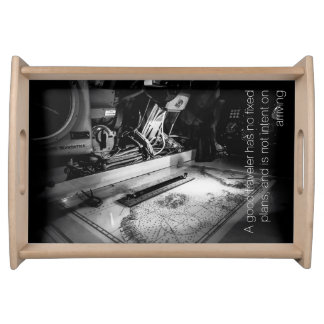 Naval map with quote by Lao Tzu Serving Tray