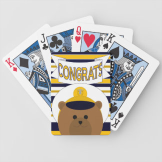 Naval Officer Congrats! Playing Cards