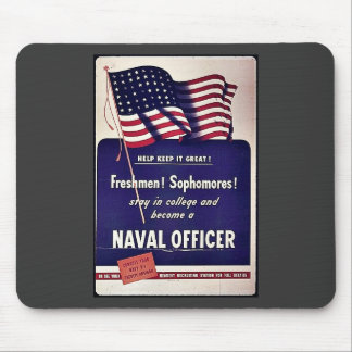 Naval Officer Mouse Pad