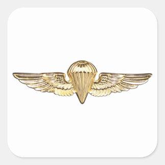 Naval Parachutist Square Sticker