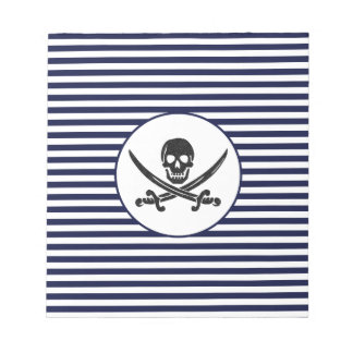 Naval Pirate Skull and cross bones Notepad