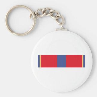 Naval Reserve Meritorious Service Ribbon Basic Round Button Keychain