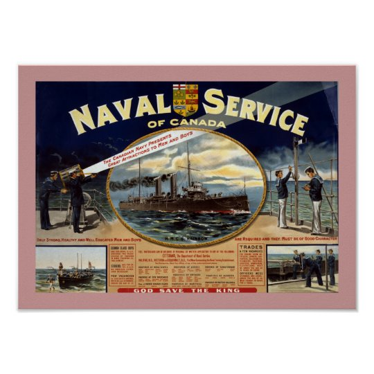 Naval Service of Canada (border) Poster