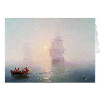 Naval Ship Ivan Aivazovsky seascape waterscape sea Card