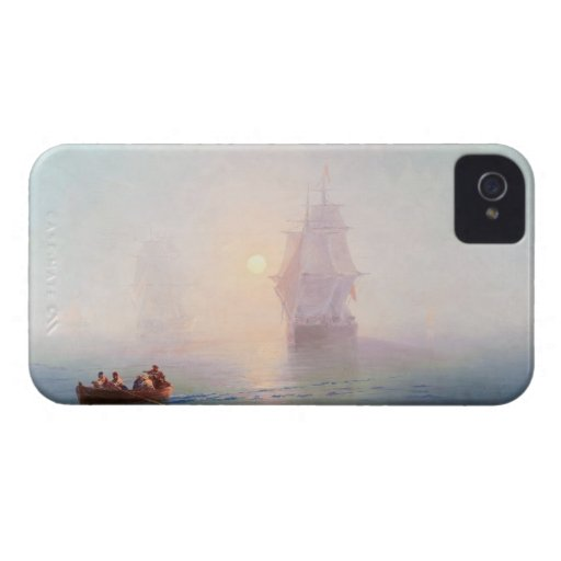 Naval Ship Ivan Aivazovsky seascape waterscape sea Case-Mate iPhone 4 Cases