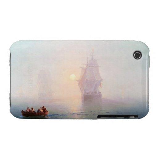 Naval Ship Ivan Aivazovsky seascape waterscape sea Case-Mate iPhone 3 Case
