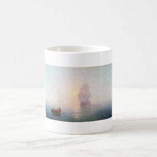 Naval Ship Ivan Aivazovsky seascape waterscape sea Coffee Mug