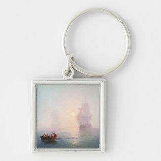 Naval Ship Ivan Aivazovsky seascape waterscape sea Keychain