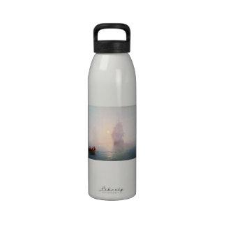 Naval Ship Ivan Aivazovsky seascape waterscape sea Water Bottle