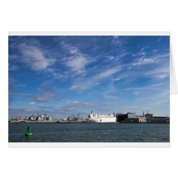 Naval Ships Norfolk Virginia Card