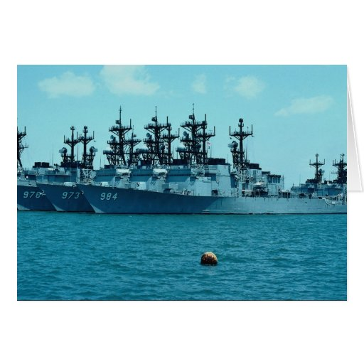 Naval station, nest of Spruance C1, San Diego, Cal Greeting Card