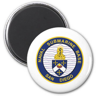 NAVAL SUBMARINE BASE San Diego CA Military Patch 2 Inch Round Magnet