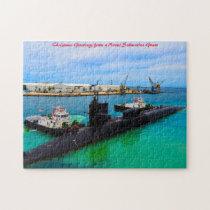 Naval Submarine Guam.Christmas Greetings Jigsaw Puzzle