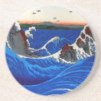 Navaro Rapids, Hiroshige Japanese Fine Art Drink Coaster