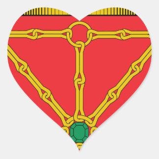 Navarra (Spain) Coat of Arms Heart Sticker