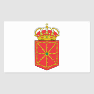 Navarra Spain Coat of Arms Rectangle Stickers