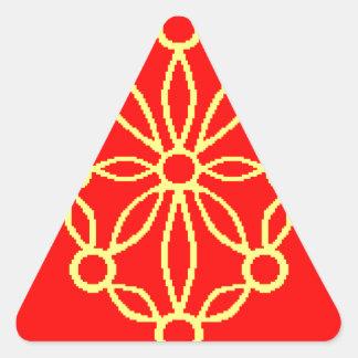 Navarra Spain Flag Triangle Stickers