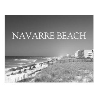 Navarre Beach Black / White Print Postcard