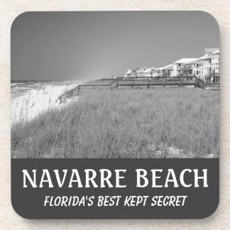 NAVARRE BEACH Drink Coffee Tea B/W Coasters