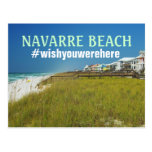 Navarre Beach, FL Twitter Hashtag #wishyouwerehere Postcard
