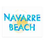 Navarre Beach Florida artsy design Postcards