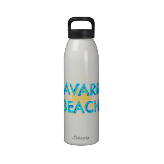 Navarre Beach Florida artsy design Water Bottles