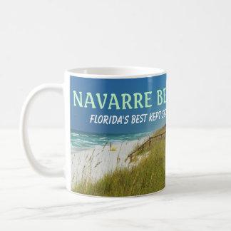 NAVARRE BEACH FLORIDA WHITE MUG