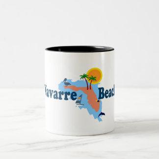 Navarre Beach. Two-Tone Coffee Mug