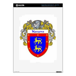 Navarro Coat of Arms/Family Crest iPad 3 Decals