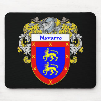 Navarro Coat of Arms (Mantled) Mouse Pad