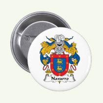 Navarro Family Crest Button