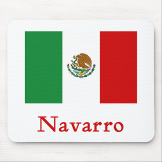 Navarro Mexican Flag Mouse Pad