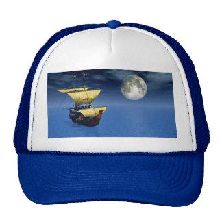 nave 3d con el gorra de la luna
