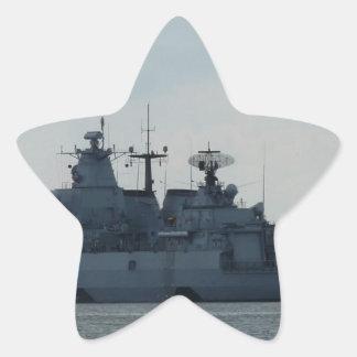 nave alemana pegatina en forma de estrella