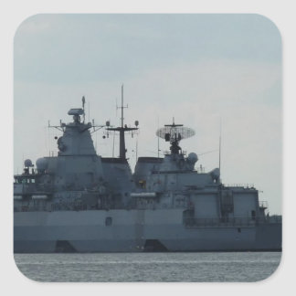 nave alemana pegatina cuadrada