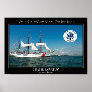 Nave alta Eagle de USCG Póster