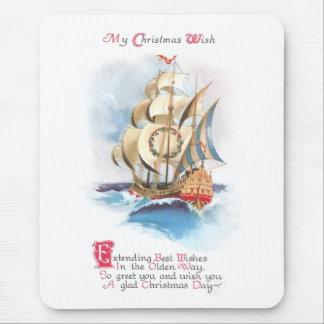 Nave alta en el navidad del vintage de los altos m alfombrilla de ratones
