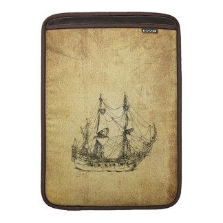 Nave antigua con clase náutica del vintage fundas para macbook air