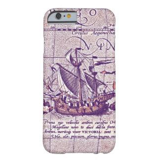 Nave antigua de Magellans del ejemplo del mapa Funda Barely There iPhone 6