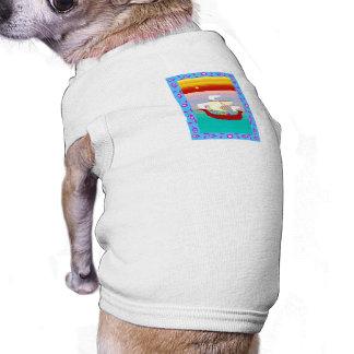 Nave árabe camisas de perritos