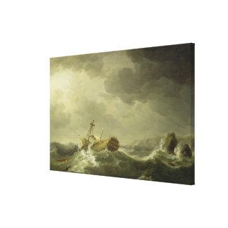 Nave arruinada en una costa rocosa, c.1747-50 (ace lona estirada galerías