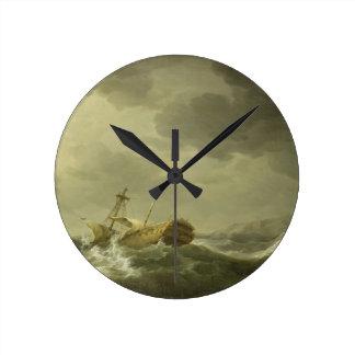 Nave arruinada en una costa rocosa, c.1747-50 (ace reloj redondo mediano