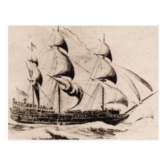 Nave Bonhomme Richard de los E.E.U.U. en el mar Postal