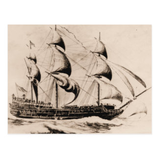 Nave Bonhomme Richard de los E.E.U.U. en el mar Tarjetas Postales