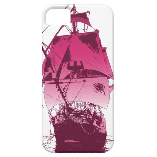 Nave clásica rosada iPhone 5 Case-Mate protector