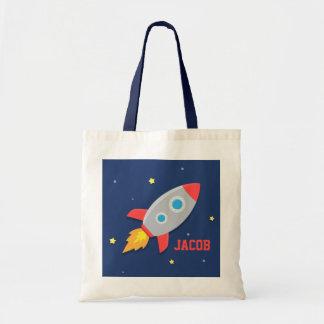 Nave colorida de Rocket, espacio exterior, para