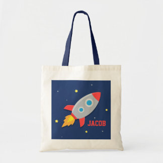 Nave colorida de Rocket, espacio exterior, para Bolsa Tela Barata